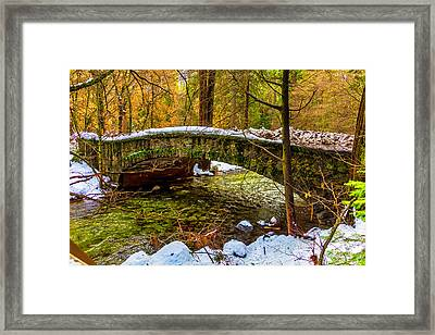 Stone Bridge Yosemite Valley Framed Print by Garry Gay