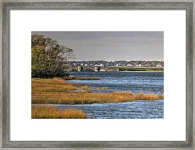 Framed Print featuring the photograph Stone Bridge At Mills Gut Colt State Park by Tom Prendergast