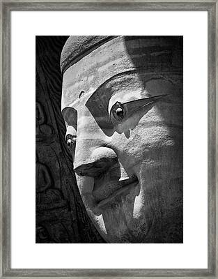 Stone Buddha Framed Print
