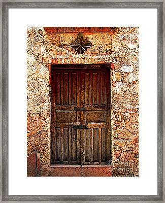 Stone-built Wall Framed Print by Mexicolors Art Photography