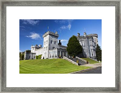 Stone Castle On Manicured Grassy Framed Print