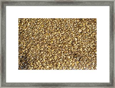 Framed Print featuring the photograph Stone Chip On A Wall by John Williams