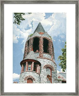 Stone Church Bell Tower Framed Print