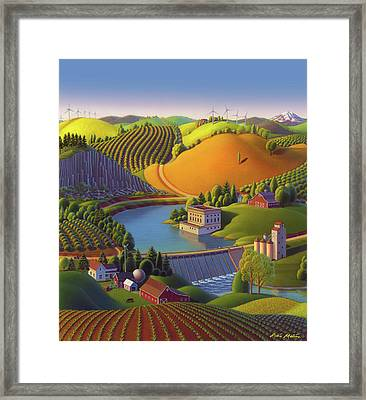 Stone City West Framed Print by Robin Moline