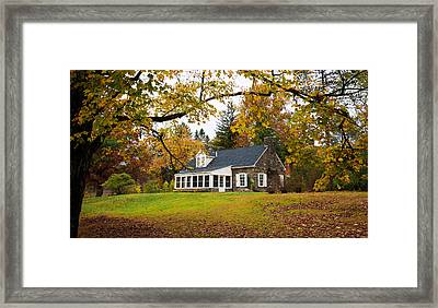 Stone Cottage In The Fall Framed Print by Kenneth Cole