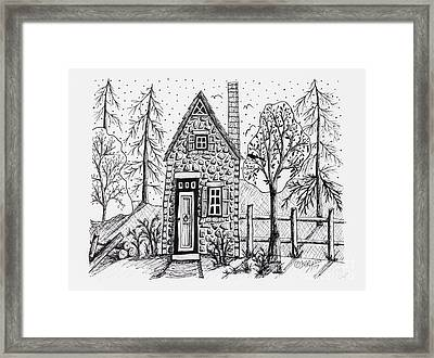 Stone Cottage Framed Print