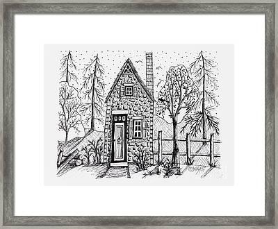 Stone Cottage Framed Print by Karla Gerard