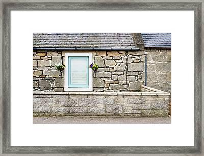 Stone Cottage Framed Print by Tom Gowanlock