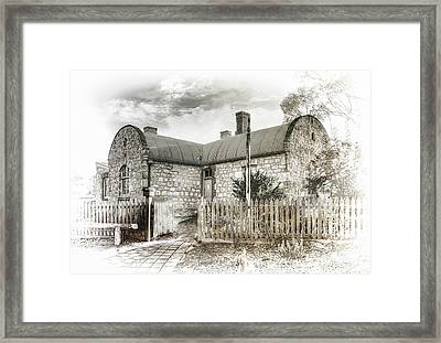 Framed Print featuring the photograph Stone Cottage by Wayne Sherriff
