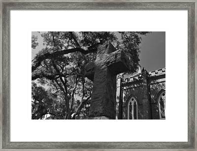 Stone Cross Framed Print by James Luce