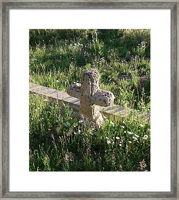 Stone Cross Framed Print by Peter  McIntosh