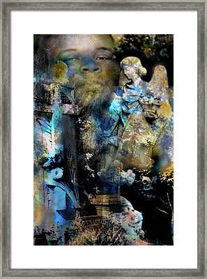 Stone Crosses And Death Angels - Michael Brown Framed Print