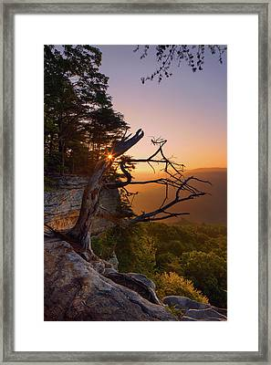 Stone Door Sunrise Framed Print