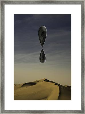 Stone Drip Over Dunes One Framed Print