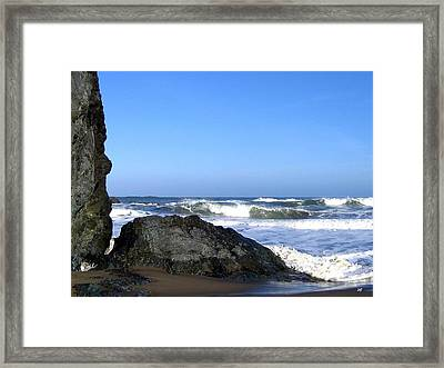 Stone Face Framed Print by Will Borden
