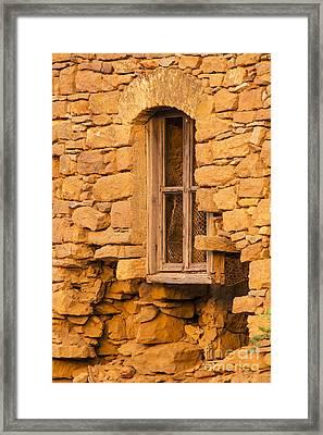 Stone Framed Window Framed Print