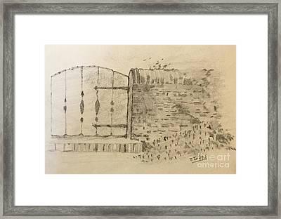 Stone Gate Framed Print