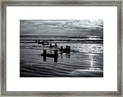 Stone Harbor Sunrise Framed Print