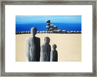 Stone Horizon Framed Print by Reb Frost