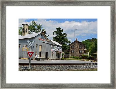 Stone House And Old Feed Mill Framed Print by Bob Sample