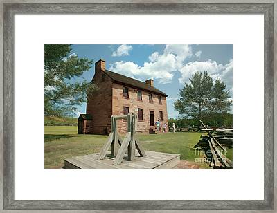 Stone House At Manassas With Digital Effects Framed Print