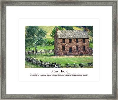 Stone House Framed Print by Don Lovett