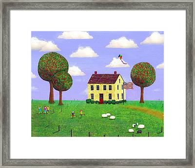 Stone House In Summer Framed Print by Paul Little
