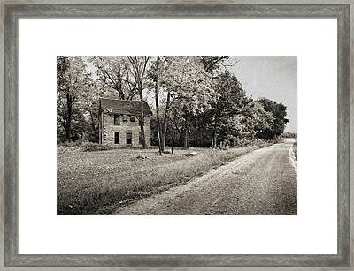 Stone House Road Framed Print
