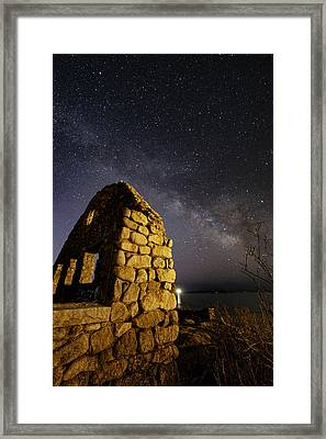 Stone House Ruins Framed Print