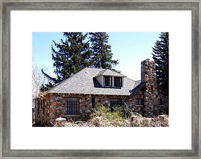 Stone House Framed Print
