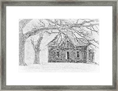 Stone House - Winter Framed Print by Nikolyn McDonald
