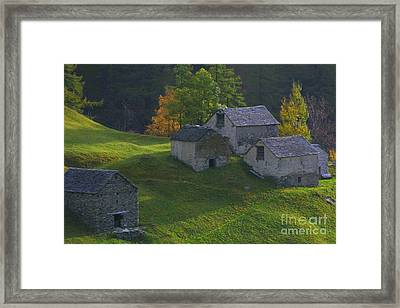 Framed Print featuring the photograph Stone Houses by Stan and Anne Foster