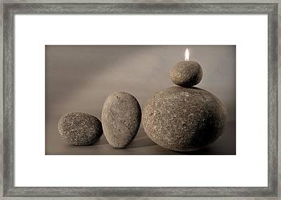 Stone Light Framed Print by Pedro Cardona
