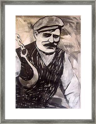 Stone Man Framed Print