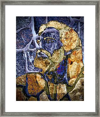 Framed Print featuring the photograph Stone Man by Pennie  McCracken