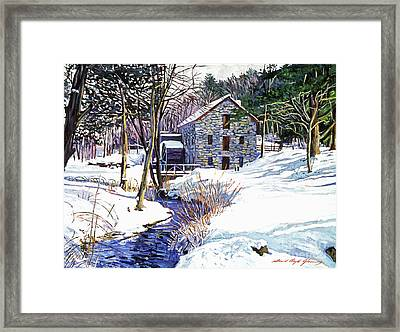 Stone Mill Framed Print by David Lloyd Glover