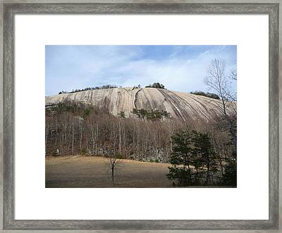Framed Print featuring the photograph Stone Mountain Early Spring by Joel Deutsch