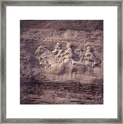 Stone Mountain, Georgia Framed Print by Frederica Georgia