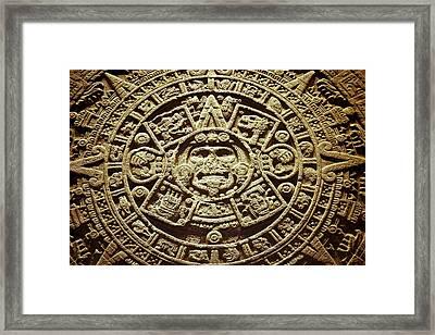 Stone Of The Sun Framed Print by John  Bartosik