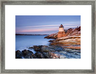 Stone On Rock Framed Print