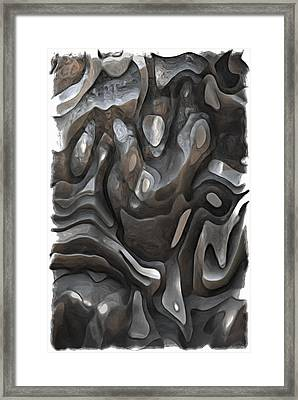 Stone Or Metal Forms Framed Print by Jack Zulli