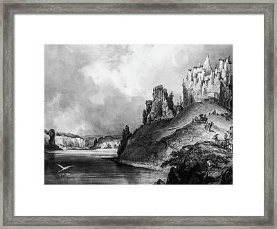 Stone Outcroppings Upper Misouri Framed Print by Douglas Barnett