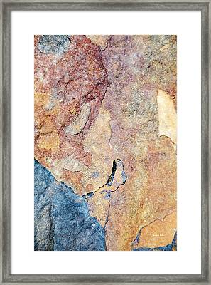 Framed Print featuring the photograph Stone Pattern by Christina Rollo