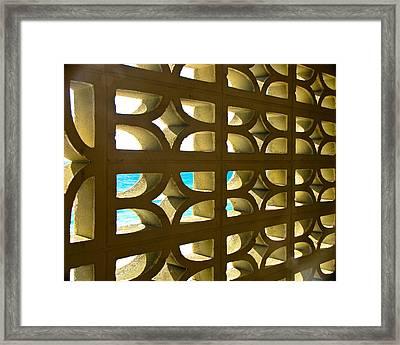 Stone Pattern Framed Print by Sandwalker Photos