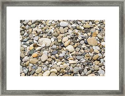 Framed Print featuring the photograph Stone Pebbles Patterns by John Williams