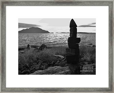 Stone Pile Framed Print by Laura  Wong-Rose