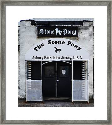 Stone Pony - Asbury Park Nj Framed Print