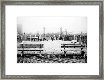 Stone Pony In The Background Framed Print