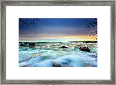 Stone Rush Framed Print