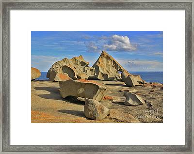 Stone Sculpture Framed Print by Stephen Mitchell
